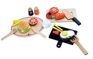 「洋食屋さんセット」 磁石・マグネットタイプのさくさく ウッディプッディ ままごと キッチン 木製 ままごとキッチン おままごとに必要なキッチンセット 木のおままごとセット ままごと