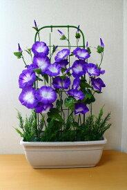 朝顔造花造花アサガオプランター朝顔送料無料3色よりお選び下さい水滴付