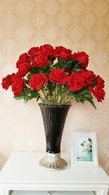 造花薔薇薔薇アレンジ高級ローズアレンジメント贈り物・新築祝い・母の日触媒加工送料無料高級薔薇40本使用