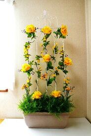 【ガーデンプランター】【ローズプランター】【造花】【薔薇】【送料無料】【3色よりお選び下さい】