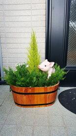 【人工観葉植物】【アニマルプランター】【送料無料】【ブタ・猫・リスいずれかをお選びください】【屋外使用可】