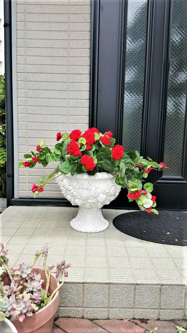 造花 インテリア プランター おしゃれ 人工観葉植物ゼラニュームプランターインパチェンスプランターミックスグリーンプランター造花送料無料3種よりお選び下さい。