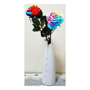 造花薔薇レインボーローズ 虹色 花言葉は奇跡 2色よりお選び下さい