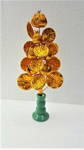 【ミニ盆花金蓮】【お盆】花瓶付き 【お仏壇用置き】送料無料