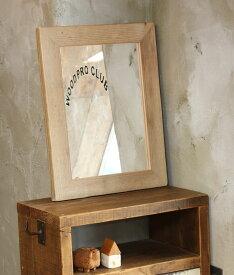 OLD ASHIBA(足場板古材)ミラー(鏡)A型 Mサイズ 無塗装520mm×397mm【アンティーク風】[受注生産] 【小型商品】