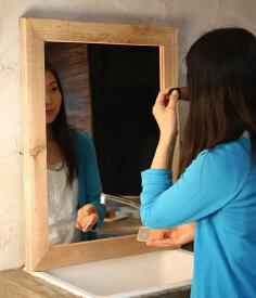 OLD ASHIBA(足場板古材)ミラー(鏡)A型 Lサイズ 無塗装695mm×520mm【アンティーク風】[受注生産] 【小型商品】