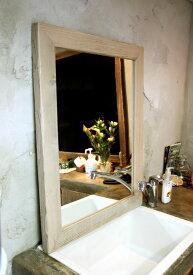 OLD ASHIBA(足場板古材)ミラー(鏡)A型 Lサイズ 塗装仕上げ695mm×520mm【アンティーク風】[受注生産] 【小型商品】