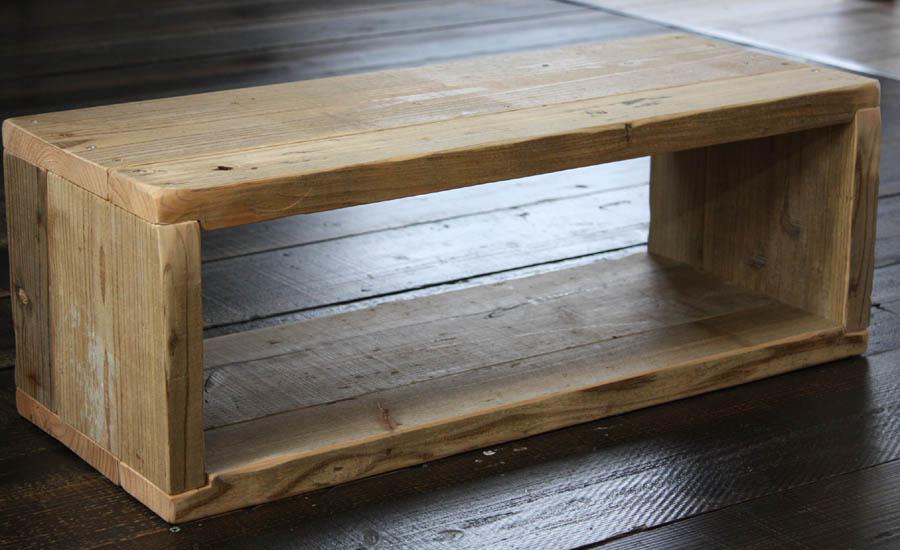 OLD ASHIBA(足場板古材)ラック長方形3型(1.5段) 無塗装幅750mm×高さ266mm×奥行295mm【木製ラック】【キューブボックス】 【小型商品】