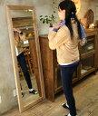 OLD ASHIBA(足場板古材)ミラー(鏡)A型 姿見Lサイズ 無塗装1600mm×520mm【アンティーク風】[受注生産]