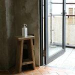 OLDASHIBA(足場板古材)踏み台スツール(飾り棚付き)高さ600mm無塗装