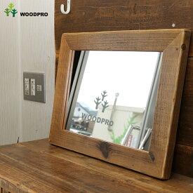 OLD ASHIBA(足場板古材)ミラー(鏡)A型 Mサイズ 塗装仕上げ520mm×397mm【アンティーク風】[受注生産] 【小型商品】