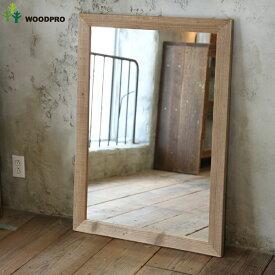 OLD ASHIBA(足場板古材)ミラー(鏡)A型 XLサイズ 無塗装1020mm×730mm【アンティーク風】[受注生産] 【大型商品】