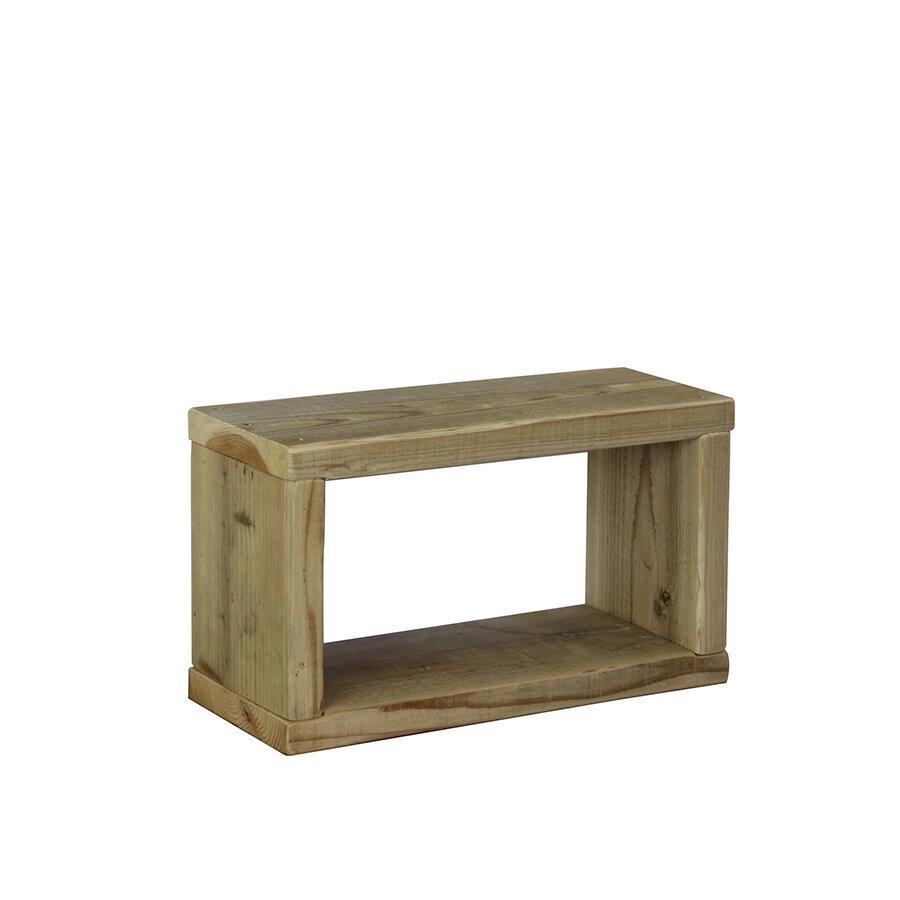OLD ASHIBA(足場板古材)ラック幅450mm×高さ266mm×奥行195/205mm 無塗装【木製ラック】【キューブボックス】 【小型商品】