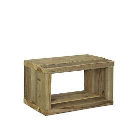 OLD ASHIBA(足場板古材)ラック幅450mm×高さ266mm×奥行295mm 無塗装【木製ラック】【キューブボックス】 【小型商品】