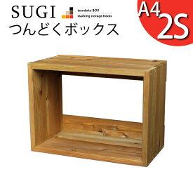 【SUGI-インテリア】つんどくボックス A4-2S幅480×奥行250×高さ350mm(A4タイプ) 【小型商品】