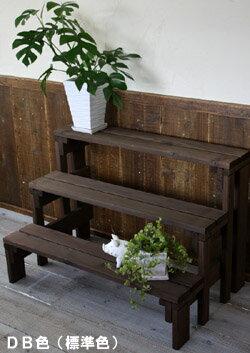 【フラワースタンド】プランター台/花台棚板セット3段 【小型商品】
