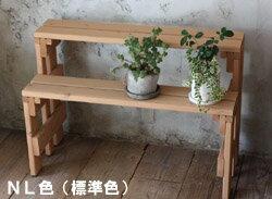 【フラワースタンド】プランター台/花台棚板セット2段(ハイタイプ)