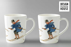 MULLED WINE MUG ワインマグ Uncle Blue is skiing(100ml/10cl) 2個セット / DESIGN HOUSE Stockholm デザインハウス ストックホルム(Elsa Beskow Collection Designed by Catharina Kippel)