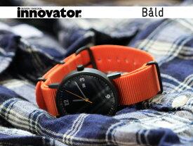 イノベーター innovator 腕時計(ウォッチ) バルド WATCH Bald ブラック×オレンジ