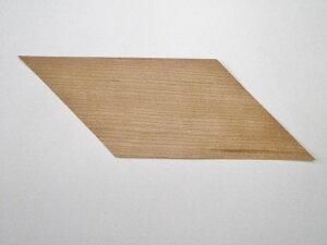 ウッドステッカーサイズ:75mmx150mm 平行四辺形アメリカンチェリー 天然木 10枚セット