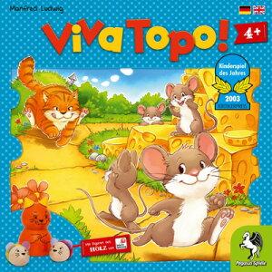 ねことねずみの大レース Viva Topo!【ドイツ語版(日本語説明書付き)】ペガサス社ボードゲーム【子どもお誕生日知育玩具プレゼントキッズ子供ゲーム木のおもちゃギフト出産祝い赤ちゃん
