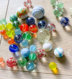 ガラスのビー玉35個セットNEW(蓄光タイプ入り)