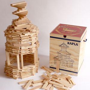 魔法の板 カプラ(KAPLA)カプラ280おまけカプラ4枚つき【おもちゃ歳から】【子どもお誕生日知育玩具プレゼントキッズ子供ゲーム木のおもちゃギフト出産祝い赤ちゃん男の子女の子】