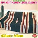 エルパソ サドルブランケット ネイティブ柄 ラグ キャンプ 大人気 ダイヤモンドセンターブランケット (フォレスト) 150cm×210cm