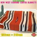エルパソ サドルブランケット ネイティブ柄 ラグ キャンプ 大人気 ダイヤモンドセンターブランケット (ブリック) 150cm×210cm
