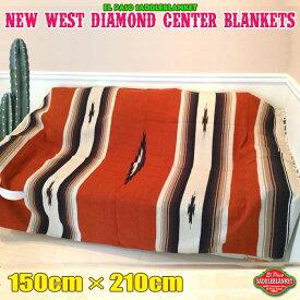 エルパソ サドルブランケット ネイティブ柄 ラグ キャンプ ダイヤモンド センター ブランケット (ブリック) 150cm×210cm