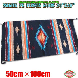 エルパソ サドルブランケット ネイティブ柄 ラグ サンタフェ フィエスタ ラグマット Sサイズ (F48) 50cm×100cm