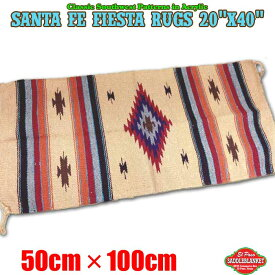 エルパソ サドルブランケット ネイティブ柄 ラグ サンタフェ フィエスタ ラグマット Sサイズ (H49) 50cm×100cm