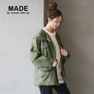 [sr-182-008-a/b/c/d/e/f]sunny side up (Sunnyside up) REMAKE M-65 MILITARY JACKET/ remake M-65 military jacket oOF