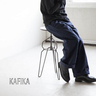 [KFK080]KAFIKA (カフィカ) chino wide trousers (Chino wide trousers) K
