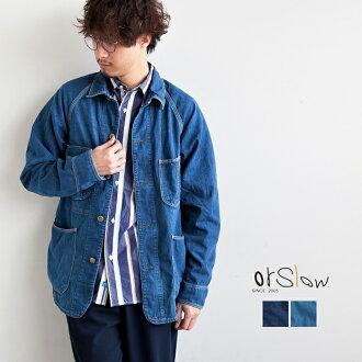 [03-6140-81] orSlow (斯洛) 牛仔覆蓋所有 (50 年代牛仔布涵蓋所有) N