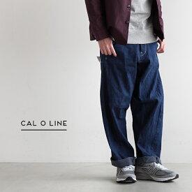 【最大35倍 26日01:59まで】[CL162-034] CAL O LINE(キャルオーライン)BARREL PAINTER PANTS(バレルペインターパンツ/デニムワイドパンツ)【送料・代引き手数料無料】【メール便対象外】NN