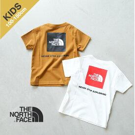 ◇[NTJ32142] THE NORTH FACE(ザノースフェイス)S/S Square Logo Tee(ショートスリーブスクエアロゴティー/キッズ)【メール便対応可】uGM