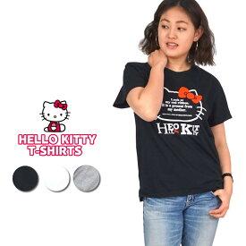 Hello Kitty Tシャツ 半袖 綿100% 3サイズ( M/ L/ LL ) カラー3色 ハローキティ キティ ティーシャツ トップス レディース あす楽