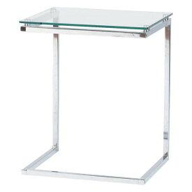 サイドテーブル リビングテーブル ローテーブル 幅45cm ホワイト 白 ガラス製 モダン コーナーテーブル ベッドサイドテーブル ソファーサイドテーブル コーヒーテーブル カフェテーブル てーぶる