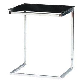 サイドテーブル リビングテーブル ローテーブル 幅45cm ブラック 黒 ガラス製 モダン コーナーテーブル ベッドサイドテーブル ソファーサイドテーブル コーヒーテーブル カフェテーブル てーぶる