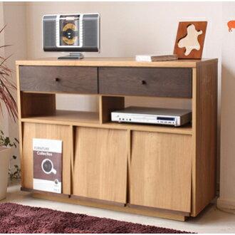 TV-snack lowboard completed wooden Japanese style modern width 120 cm tall TV Board TV Board TV stand TV stand make living Board AV rack AV storage AV Board natural Brown 40-inch for 40 for domestic Japan-