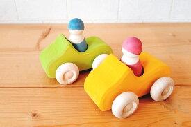 【すぐに使えるクーポン配布中】グリムス社 オープンカー 一人乗り SH09305 【木製のくるま オープンカー 木のおもちゃ 知育玩具 積み木 つみき カラフルフレンズ レインボーフレンズ】