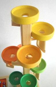 正規輸入品 トレイクーゲルタワーレインボー 【木のおもちゃ 木製 知育玩具 出産祝い 誕生日 スロープ ビー玉 トレイ 赤ちゃん ベビー 0歳 1歳 2歳 3歳】