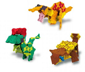 ラキュー 恐竜 ダイナソーワールド 恐竜ミニシリーズ 3点セット 男の子 LaQ 知育玩具 知育ブロック 女の子 かしこくなる おもちゃ