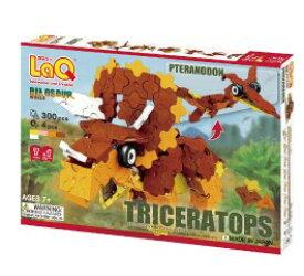 LaQ ラキュー 恐竜 ダイナソーワールド トリケラトプス&プテラノドン 恐竜 知育玩具 知育ブロック 男の子 かしこくなる おもちゃ