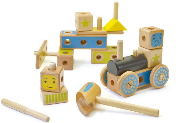 【直営店】ウッディプッディ あそび広がるつみき(大工さんセット)【WOODYPUDDY 積木 積み木 2歳 3歳 4歳 知育玩具 木製 木のおもちゃ 出産祝い 知育 木 つみき おもちゃ おしゃれ 子ども 大工 子供 】