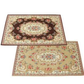 玄関マット おしゃれ 室内 北欧 ラグ カーペット ラグマット 絨毯 厚手 安い 洗える 屋内 小さい 小さめ ペルシャ 花柄 アンティーク 50×80 滑り止め