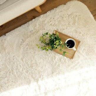 シャギーラグ シャギーラグマット シャギー ラグ ラグマット カーペット マット 厚手 おしゃれ 北欧 安い 洗える 滑り止め 床暖房 床暖房対応 190×190 3畳