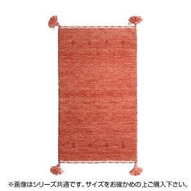 ラグ カーペット おしゃれ ラグマット 絨毯 厚手 極厚 キリム柄 ネイティブ ギャッベ ギャベ 玄関マット 室内 北欧 ウール 夏 80×140 1畳 ピンク