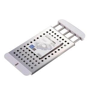 水切りトレー 作業台 水切り 水切りラック 水切り棚 コップ 皿 流し台 流し シンク上 シンク内 スライド 伸縮 ステンレス スリム